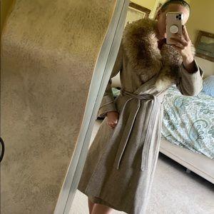Very nice vintage wool and fur jacket